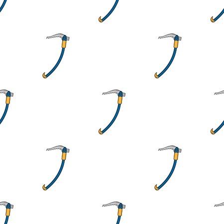 Climbing ice pick.Extreme sport single icon in cartoon style vector symbol stock illustration . Illustration