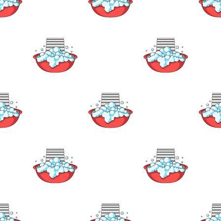 Bowl for washing. Dry cleaning single icon in cartoon style vector symbol stock illustration web. Ilustração