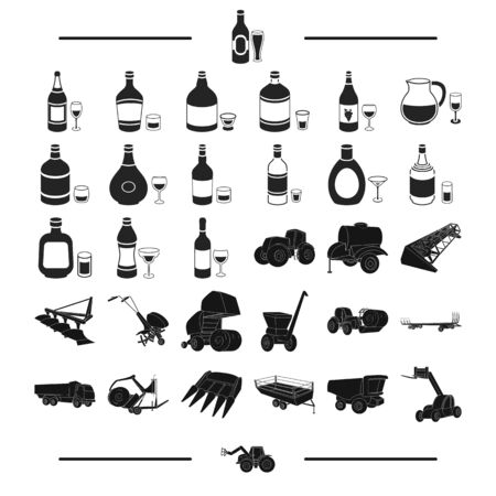 plow: transportation, equipment, Agricultural and other web icon in black style.food, desserts, transport, icons in set collection.