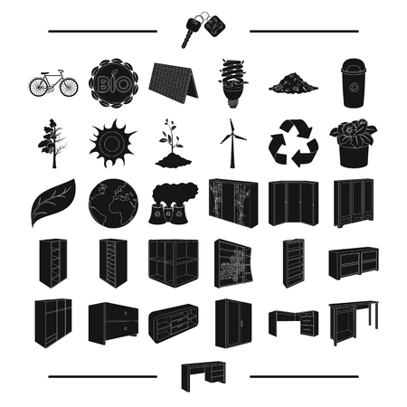 know-how, nature, eco-system and other web icon in black style.equipment, transport, ecology, icons in set collection.