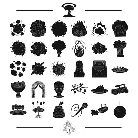 congratulations, ecology, Protection and other web icon in black stylesalute, wedding, odes,. icons in set collection.