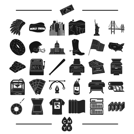 construction, tourism, isport and other web icon in black style.tools, business, roulette, icons in set collection.