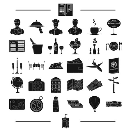 plate camera: tourism, bank, business and other web icon in black style.entertainment, restaurant, tools, icons in set collection. Illustration