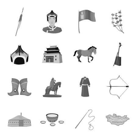 dumper: Excavator, jackhammer, helmet and other items for the mine. Mine set collection icons in monochrome style vector symbol stock illustration web.
