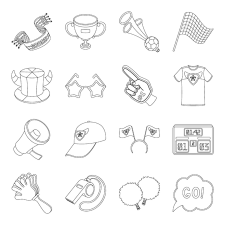 Motorcycle racing, downhill skiing, jumping, parachuting and other sports. Extreme sports set collection icons in line style vector symbol stock illustration .