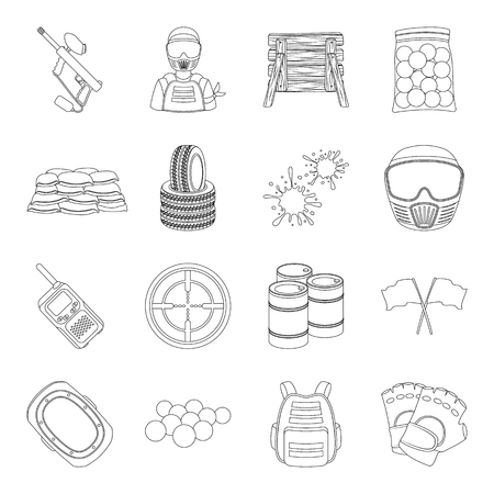 Hockey, tennis, boxing sports included in the Olympic Games. Olympic sport set collection icons in line style vector symbol stock illustration .