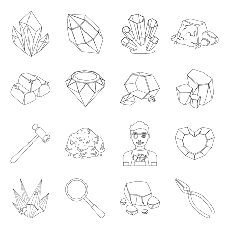detainee: Police set icons in line design. Big collection of police vector symbol stock illustration Illustration