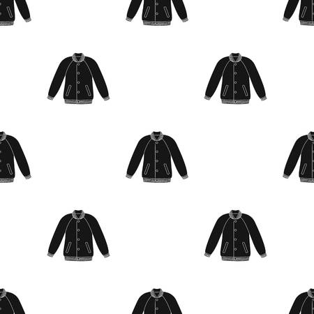 Uniform baseball jacket. Baseball single icon in black style vector symbol stock illustration web. Illustration