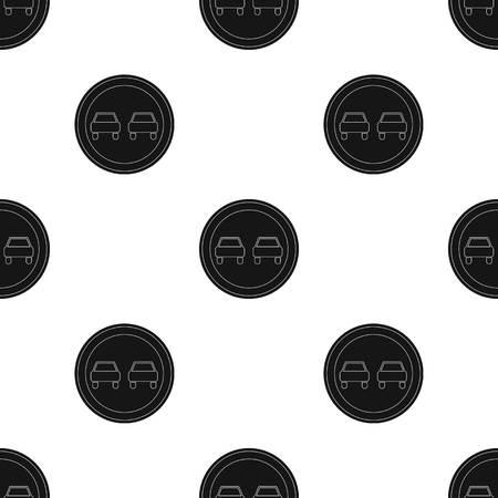vietato l'assunzione di segnali stradali. Auto icona singola in stile nero vettore simbolo stock illustrazione web. Archivio Fotografico - 81967721