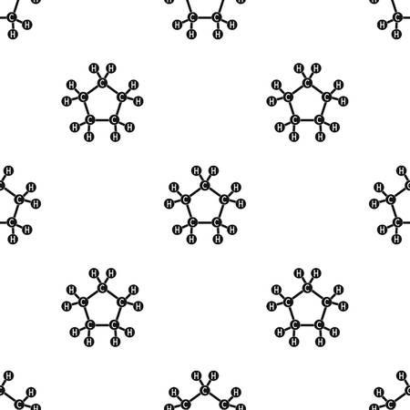 Chemical oil formula.Oil single icon in black style vector symbol stock illustration web. Illustration