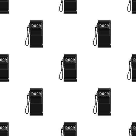 Petrol filling station.Oil single icon in black style vector symbol stock illustration web. Иллюстрация