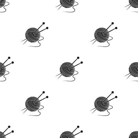 Knitting.Old age single icon in black style vector symbol stock illustration web. Illustration