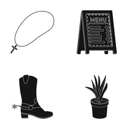 Cross, menu and other web icon in black style. boot, houseplant icons in set collection.