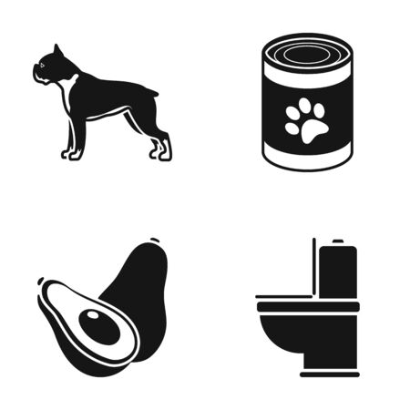 Breed, Food and or web icon in black style.Veterinary , Plumbing icons in set collection. Illustration
