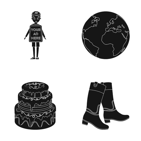 advertising, cooking and or web icon in black style.space, hippodrome icons in set collection.