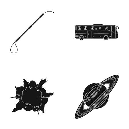 sport, war and or web icon in black style.transport, space icons in set collection.