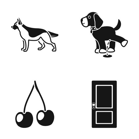 animal, cooking and or web icon in black style. building, dog icons in set collection.