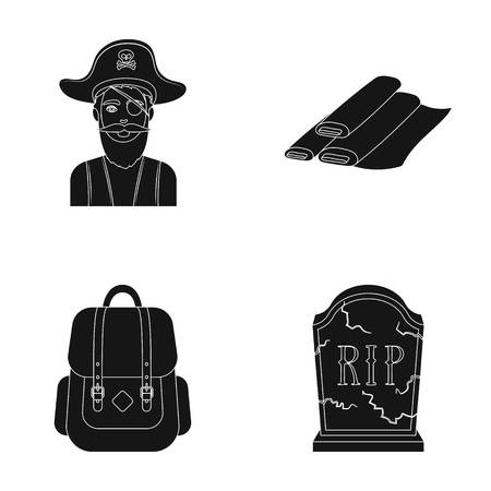 travel, training and or web icon in black style.atelier, mourning icons in set collection. Illustration