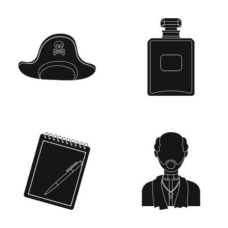 vestment: travel, training and or web icon in black style.cosmetics, religion icons in set collection. Illustration