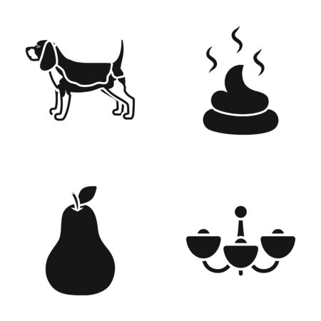 cleanliness: Breed, cooking, cleanliness, and lighting icons black style set collection.