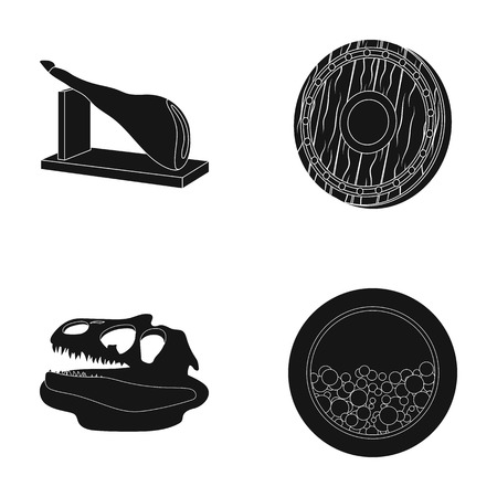 archeology, history and or  icon in black style. electrical appliance icons in set collection. Illustration