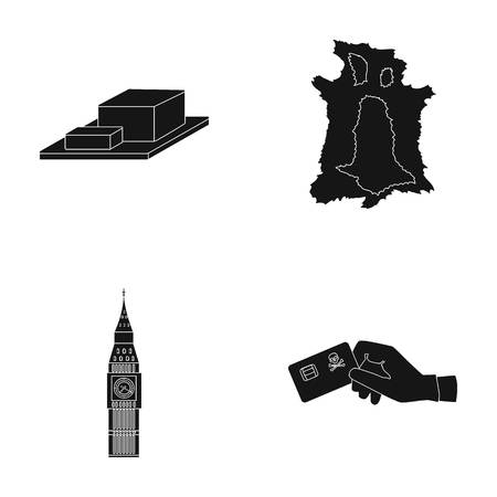 ben oil: bones, Travel and or  icon in black style.history, crime icons in set collection.