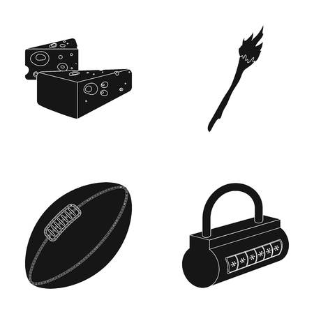 milk production , Sport and or  icon in black style. history, home icons in set collection.