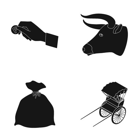 plateau: seats, parking and or web icon in black style.Animal, transport icons in set collection.