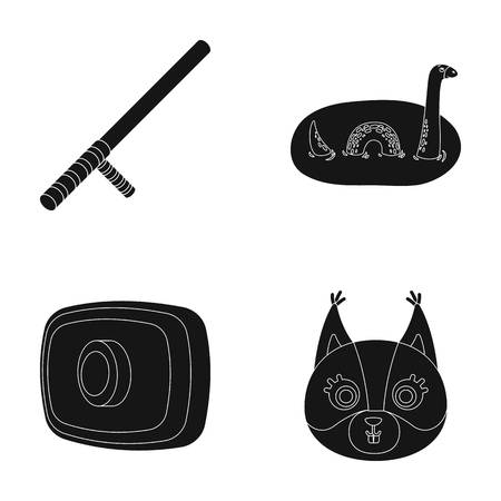 Animal, history and or  icon in black style. lighting, Rule of law icons in set collection. Illustration