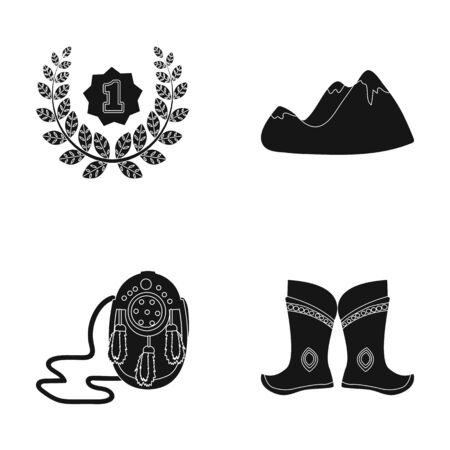 training, travel and or web icon in black style.clothing, sport icons in set collection.