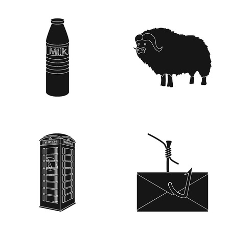 shop, travel and or  icon in black style.animal, computer icons in set collection.
