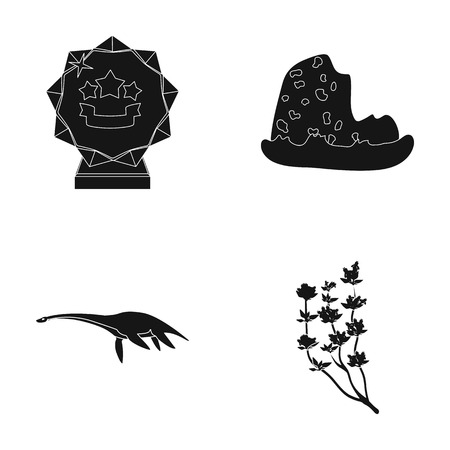 travel, sport and or web icon in black style.Adventure, history icons in set collection.