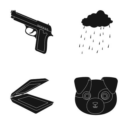 army, technology and or web icon in black style.rain , Animal icons in set collection.