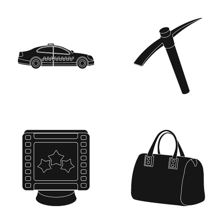 maintenance, premium and other web icon in black style.bag, Coal industry icons in set collection.