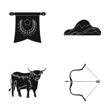 laurel mountain: sport, training and or web icon in black style. animal, travel icons in set collection. Illustration