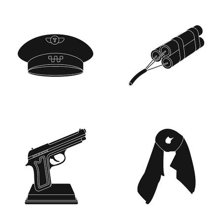 clothes, film and other web icon in black style.maintenance, Mining icons in set collection.