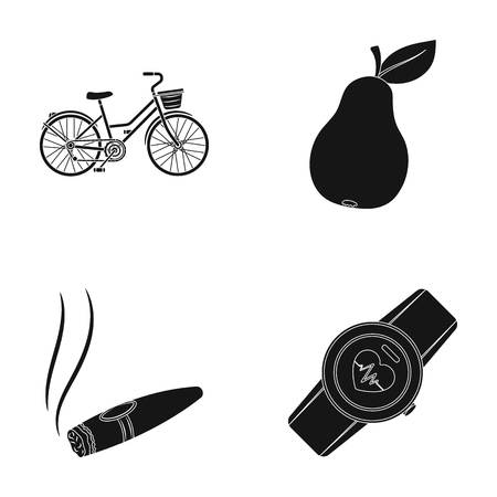 Sports, nicotine and other web icon in black style.garden, fitness icons in set collection. Illustration