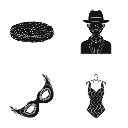 hangers: sport, law and order and other web icon in black style. travel, food icons in set collection.