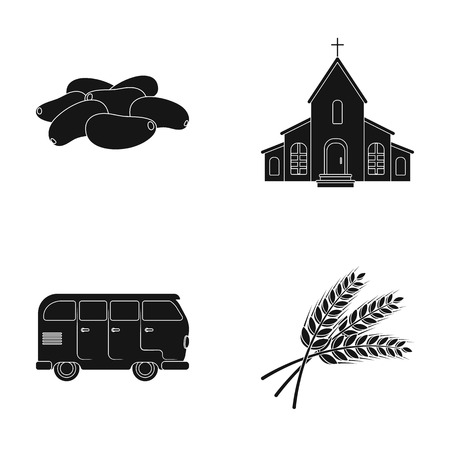 culinary, religion and other web icon in black style. transport, agriculture icons in set collection. Illustration