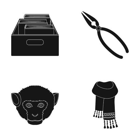 training, animal and other web icon in black style.master, clothing icons in set collection.