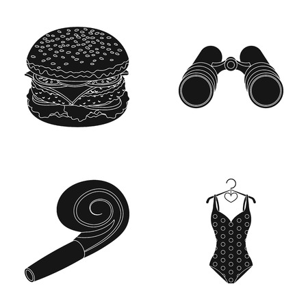 cooking, stadium and other web icon in black style. travel, sport icons in set collection.