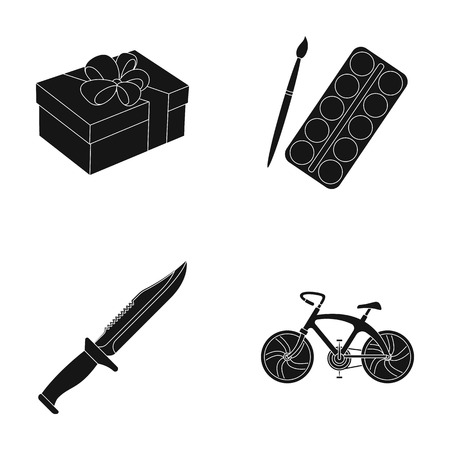 Service, offenses and other web icon in black style.artist,sports icons in set collection.