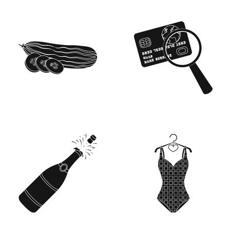 sports, cooking and other web icon in black style.traveling, alcohol icons in set collection. Illustration