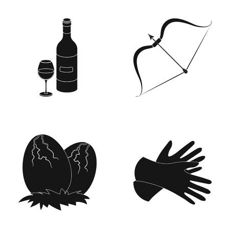 alcohol, history and or web icon in black style. weapons, style icons in set collection.