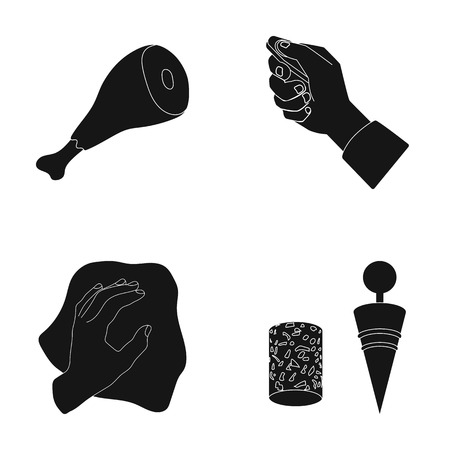 cleaning, food and or web icon in black style.transport, wine icons in set collection. Illustration