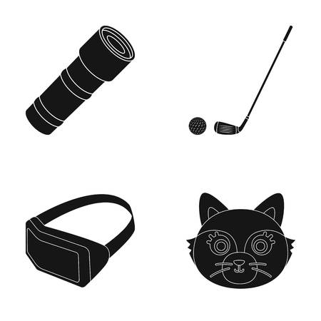 animal, technology and or web icon in black style.glow, sport icons in set collection. Illustration