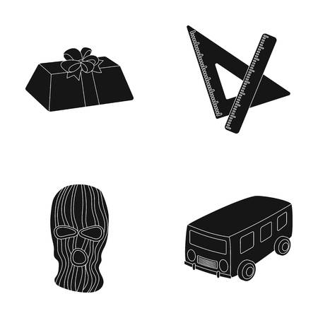 Service, transport and other  icon in black style.offense, training icons in set collection.