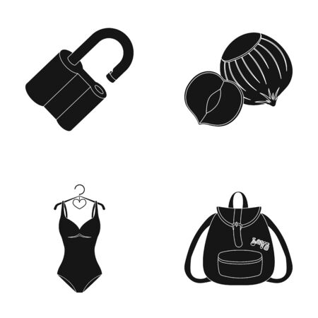 lock, sports and other  icon in black style.cooking, training icons in set collection.