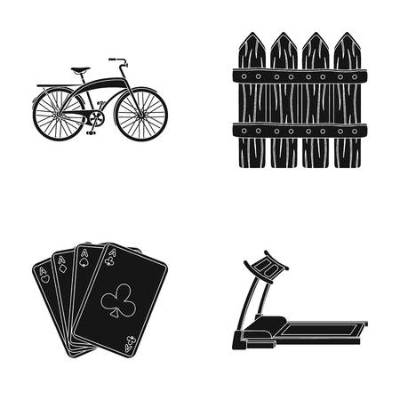 gym, casino and other  icon in black style.Agriculture, sports icons in set collection.