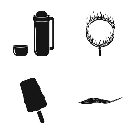 fire and ice: Ocean, sea, travel and other web icon in black style.sweetness, scat, fish, icons in set collection. Illustration